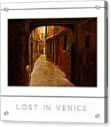 Lost In Venice Poster Acrylic Print