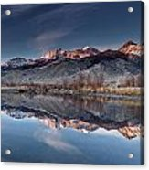 Lost River Mountains Winter Reflection Acrylic Print