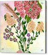 Lots Of Flowers Acrylic Print