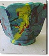 Lotus Bowl Plant Pot Ceramic Acrylic Print
