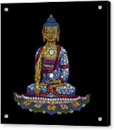Lotus Buddha Acrylic Print by Tim Gainey