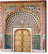 Lotus Gate In Jaipur City Palace Acrylic Print