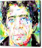 Lou Reed Watercolor Portrait.1 Acrylic Print