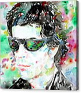Lou Reed Watercolor Portrait.2 Acrylic Print