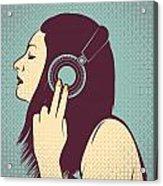 Loud Silence Acrylic Print