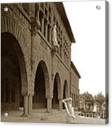 Louis Agassiz In The Concrete Most Famous Image Associated With Stanford University 1906 Earthquake Acrylic Print