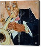Louis Armstrong 1 Acrylic Print by Katie Spicuzza