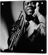 Louis Armstrong Holding A Trumpet Acrylic Print