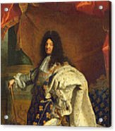 Louis Xiv In Royal Costume, 1701 Oil On Canvas Detail Of 59867 Acrylic Print