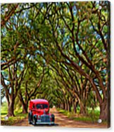 Louisiana Dream Drive  Acrylic Print