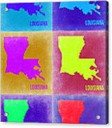 Louisiana Pop Art Map 2 Acrylic Print