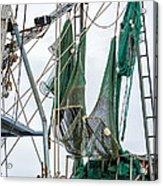 Louisiana Shrimp Boat Nets Acrylic Print