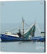 Louisiana Shrimp Trawler Acrylic Print by Bradford Martin