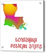 Louisiana State Map Collection 2 Acrylic Print