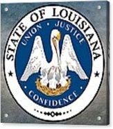 Louisiana State Seal Acrylic Print
