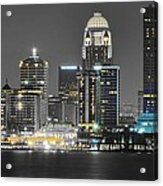 Louisville Lights Up Acrylic Print
