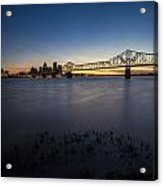 Louisville Skyline At Dusk Acrylic Print
