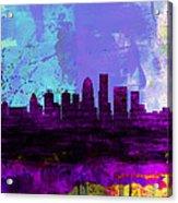 Louisville Watercolor Skyline Acrylic Print