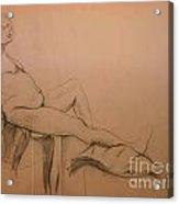 Lounging Nude Acrylic Print