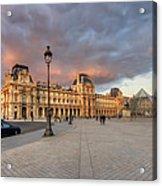 Louvre Museum At Sunset Acrylic Print