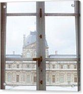 Louvre Museum Viewed Through A Window Acrylic Print