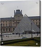 Louvre - Paris France - 01138 Acrylic Print by DC Photographer