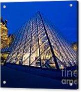 Louvre Pyramid At Dusk Acrylic Print