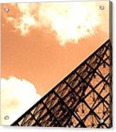 Louvre Pyramid Top Edited Acrylic Print