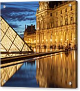 Louvre Reflections Acrylic Print by Brian Jannsen