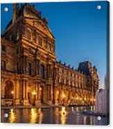 Louvre Sunset Acrylic Print