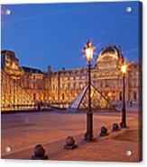 Louvre Twilight Acrylic Print