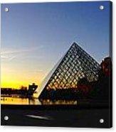 Louvre's Last Light Acrylic Print