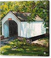 Loux Covered Bridge Bucks County Pa Acrylic Print