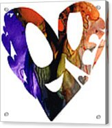 Love 1 - Heart Hearts Romantic Art Acrylic Print
