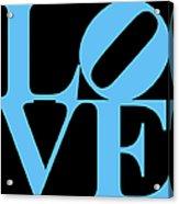 Love 20130707 Blue Black Acrylic Print