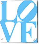 Love 20130707 Blue White Acrylic Print by Wingsdomain Art and Photography