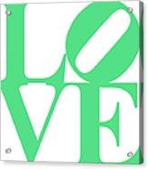Love 20130707 Green White Acrylic Print
