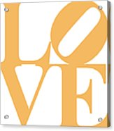 Love 20130707 Orange White Acrylic Print by Wingsdomain Art and Photography