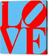 Love 20130707 Red Blue Acrylic Print by Wingsdomain Art and Photography