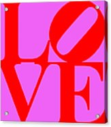 Love 20130707 Red Violet Acrylic Print