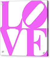 Love 20130707 Violet White Acrylic Print