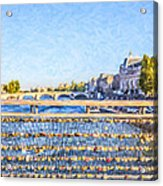 Love Across The Seine Acrylic Print