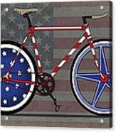 Love America Bike Acrylic Print by Andy Scullion