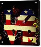 Love American Style Acrylic Print by Bill Cannon