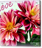 Love And Flowers Acrylic Print by Kathy  White