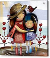 Love And Friendship  Acrylic Print by Karin Taylor