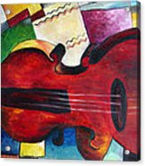 Love And Music Triptych Acrylic Print