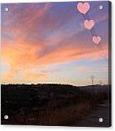 Love And Sunset Acrylic Print by Augusta Stylianou