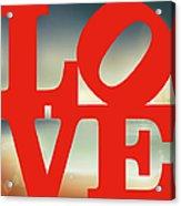 Love Beach Acrylic Print