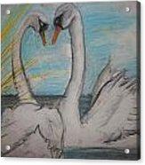 Love Birds Acrylic Print by Jake Huenink